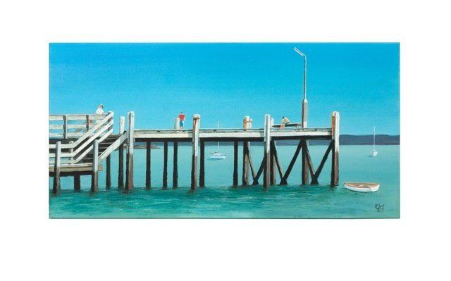 Maraetai Wharf Prints - grahamyoungartist.com - Original Artwork and Prints by New Zealand Artist Graham Young