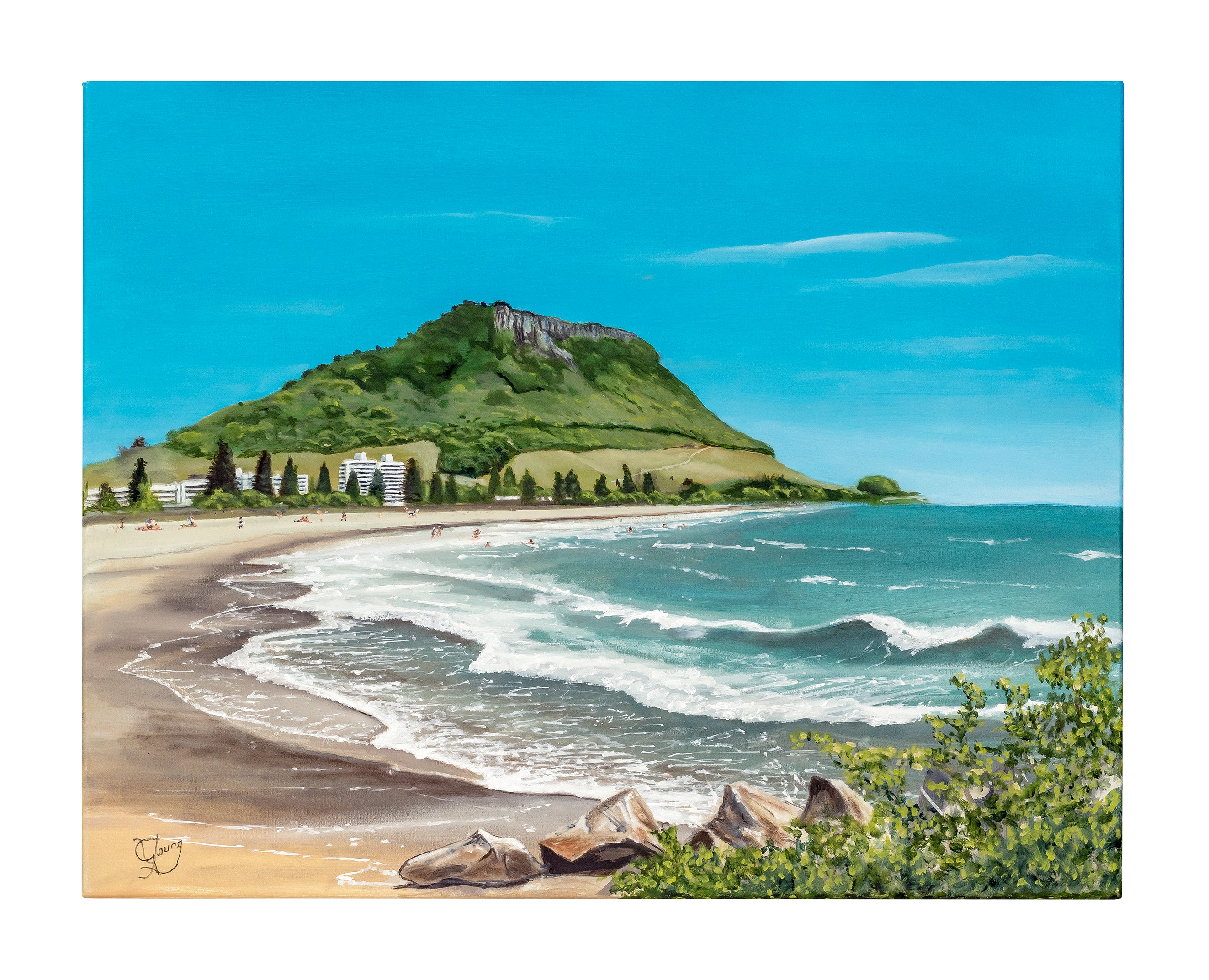 Ocean Beach - grahamyoungartist.com - Original Artwork and Prints by New Zealand Artist Graham Young