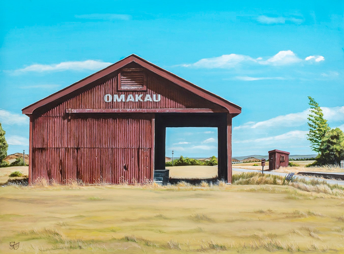 Omakau Rail Shed Prints - grahamyoungartist.com - Original Artwork and Prints by New Zealand Artist Graham Young
