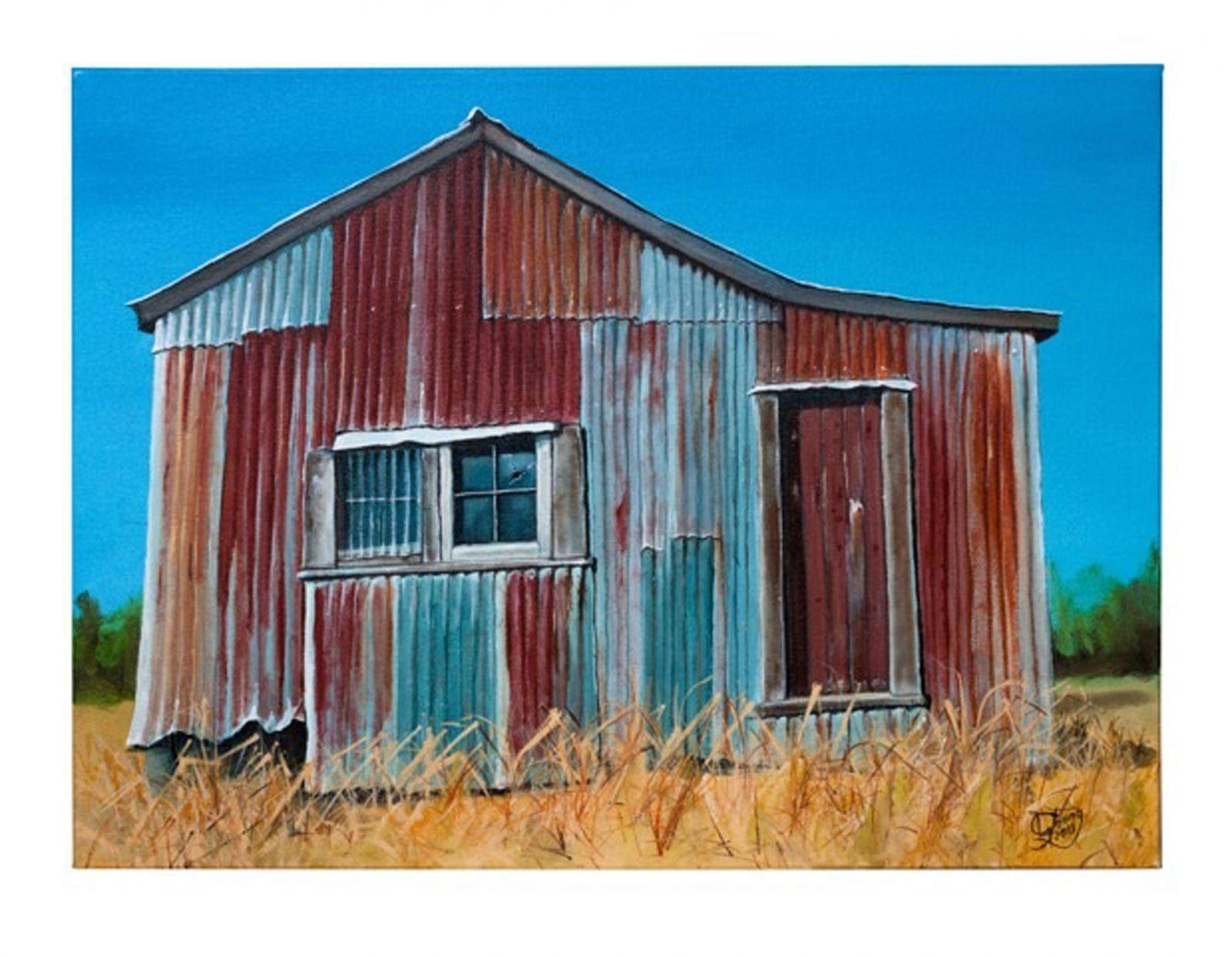 Paddy's Shed Prints - grahamyoungartist.com - Original Artwork and Prints by New Zealand Artist Graham Young