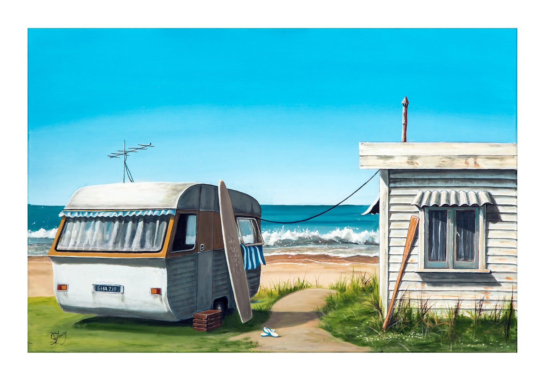 Summer Escape - grahamyoungartist.com - Original Artwork and Prints by New Zealand Artist Graham Young