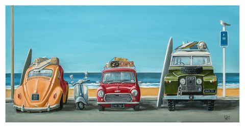 Summer Parking Prints - grahamyoungartist.com - Original Artwork and Prints by New Zealand Artist Graham Young