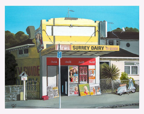 Surrey Dairy Prints - grahamyoungartist.com - Original Artwork and Prints by New Zealand Artist Graham Young