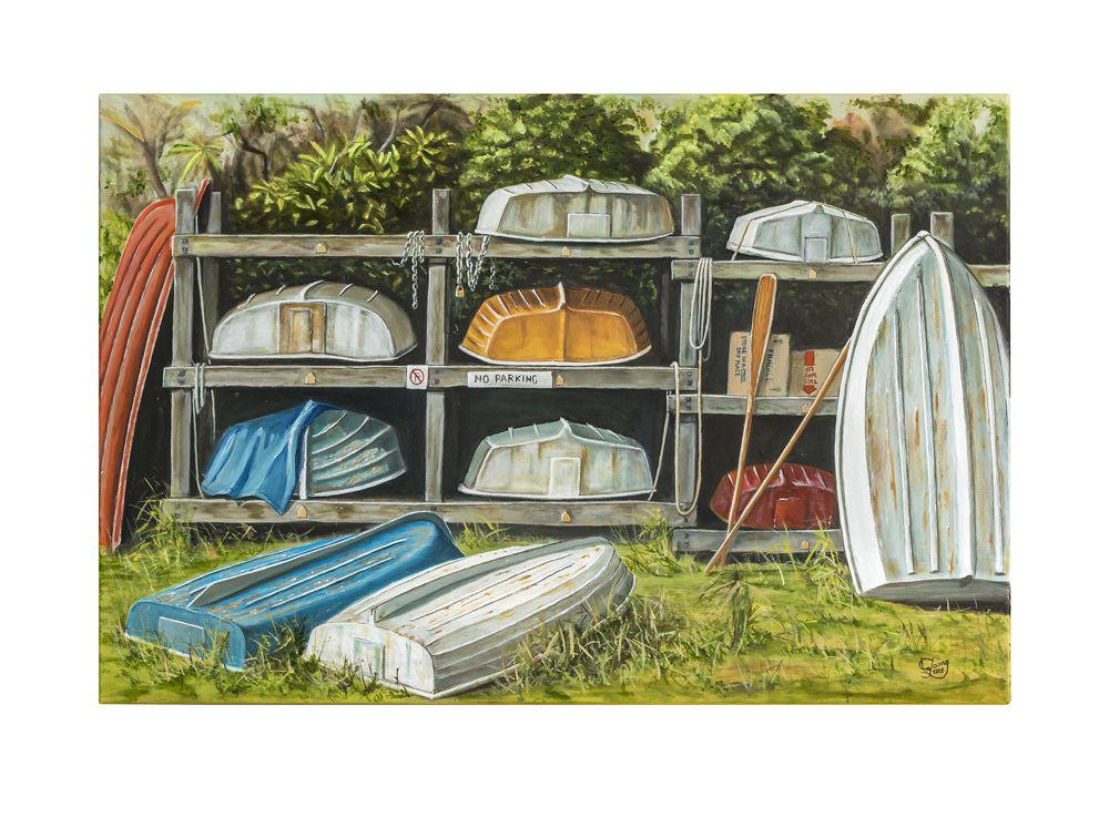 The Boat Rack Prints - grahamyoungartist.com - Original Artwork and Prints by New Zealand Artist Graham Young