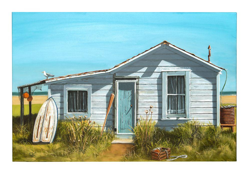 The Fisherman's Bach Prints - grahamyoungartist.com - Original Artwork and Prints by New Zealand Artist Graham Young