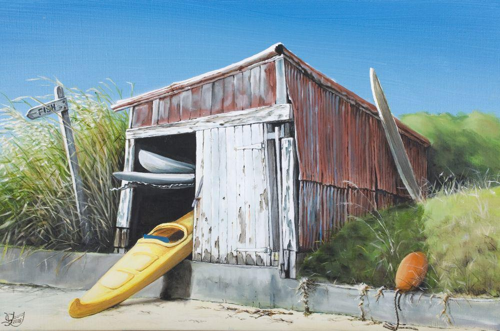 The Old Boatshed Prints - grahamyoungartist.com - Original Artwork and Prints by New Zealand Artist Graham Young