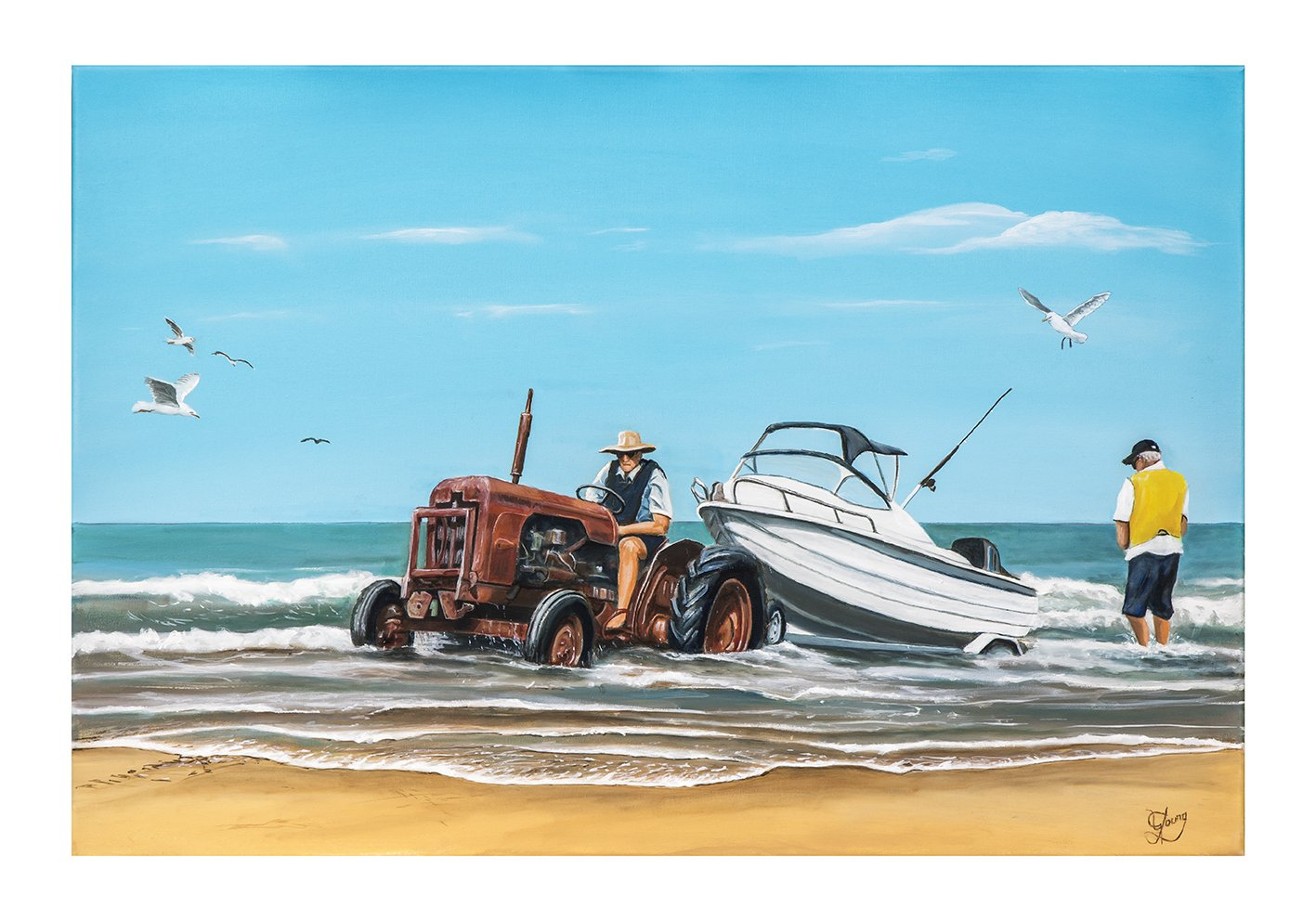 Towing The Boat Ashore - Prints