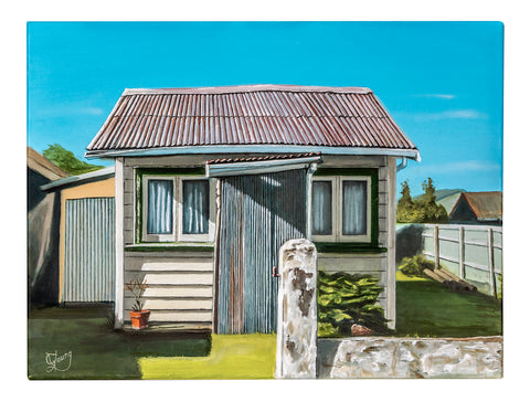 Waihi Beach Bach - grahamyoungartist.com - Original Artwork and Prints by New Zealand Artist Graham Young