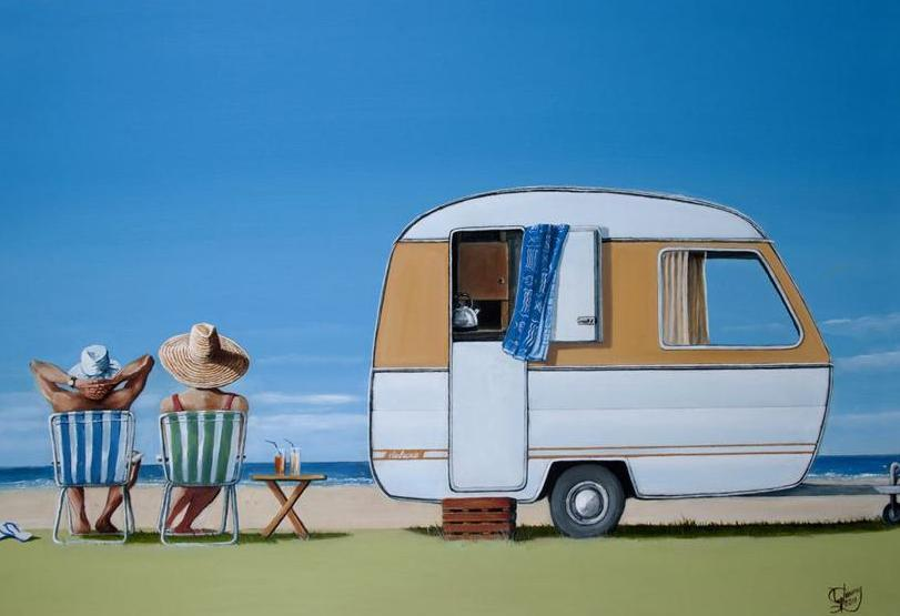 Caravan Bliss Prints - grahamyoungartist.com - Original Artwork and Prints by New Zealand Artist Graham Young