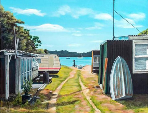 Fisherman's Haven - grahamyoungartist.com - Original Artwork and Prints by New Zealand Artist Graham Young