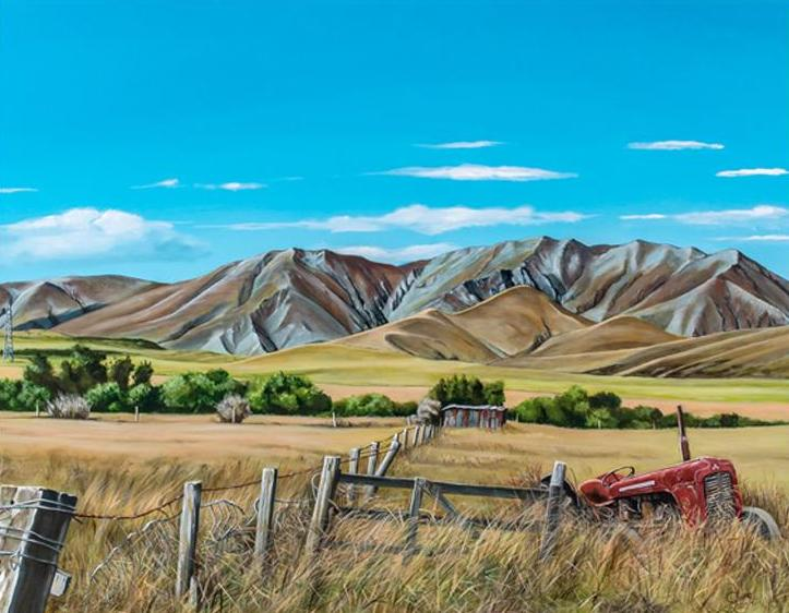Near Wedderburn, Central Otago - grahamyoungartist.com - Original Artwork and Prints by New Zealand Artist Graham Young