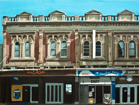 Symonds Street Morning Prints - grahamyoungartist.com - Original Artwork and Prints by New Zealand Artist Graham Young