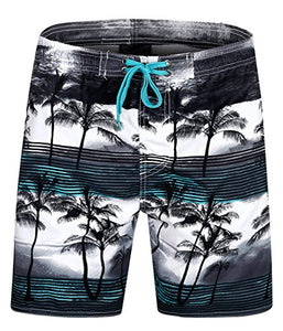 9864e33f81 ELETOP Men's Swim Trunks Quick Dry Board Shorts [Shorter Length] with Mesh  Lining and