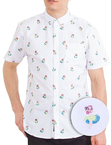 28f062ff3580 Visive Mens Short Sleeve Casual Novelty Printed Button Down Shirt ...