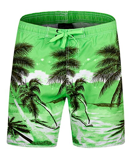 f9ea14cf50 ELETOP Men's Swim Trunks Quick Dry Board Shorts [Shorter Length] with Mesh  Lining and