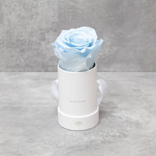 Single White Box (Sky Blue Rose)