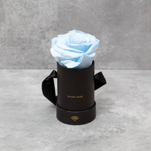 Single Black Box (Sky Blue Rose)