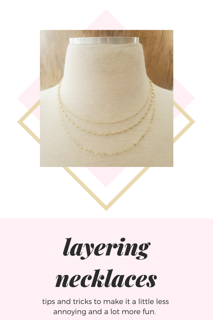 How to layer necklaces...and not lose your mind.