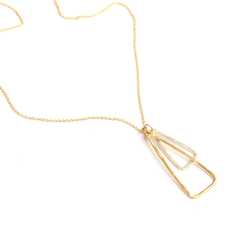 Double Triangle necklace - Jamison Rae Jewelry