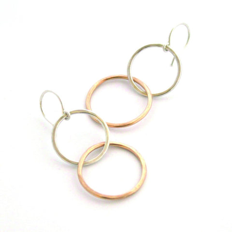 Kissing Circles earrings - Jamison Rae Jewelry