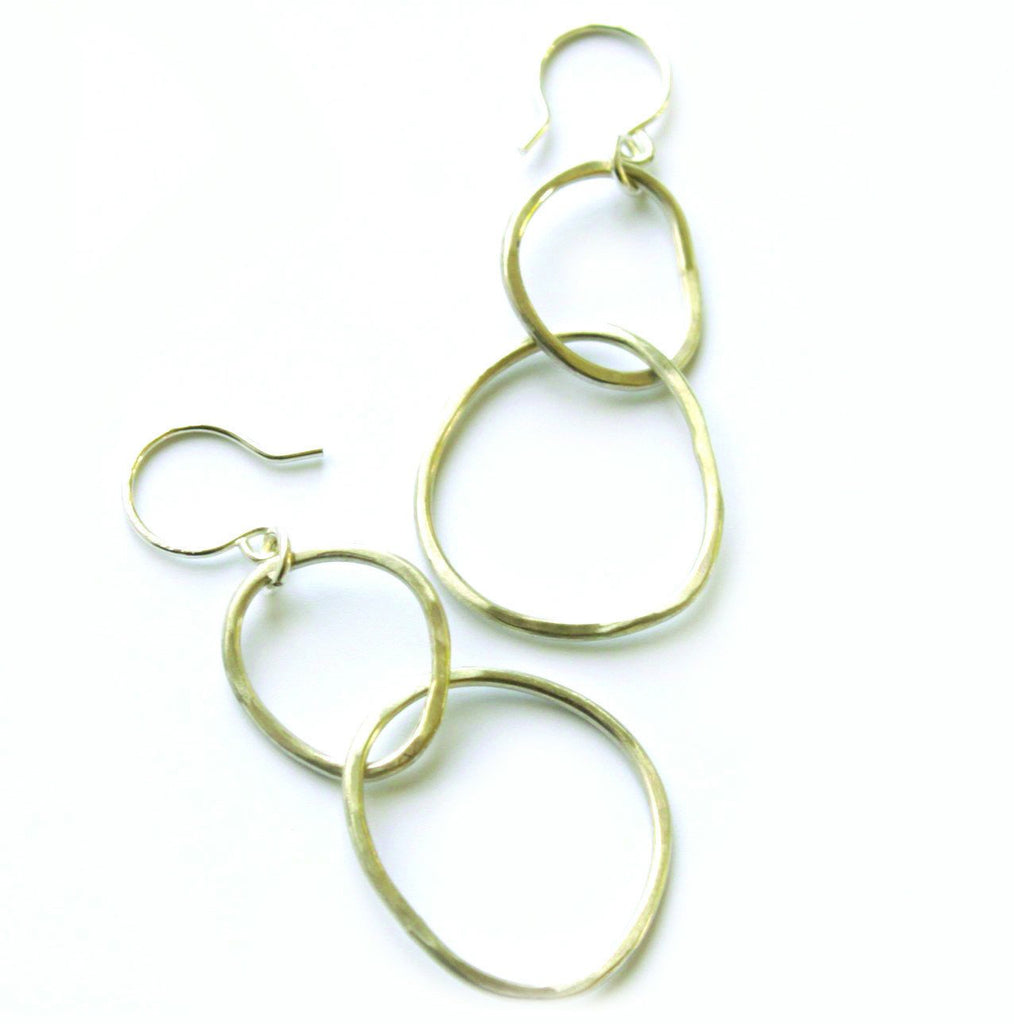 Free Form Kissing Circle earrings - Jamison Rae Jewelry