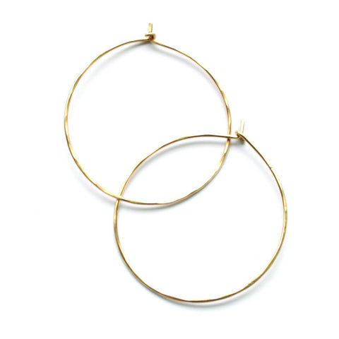 Plain and Simple Hoops - Jamison Rae Jewelry