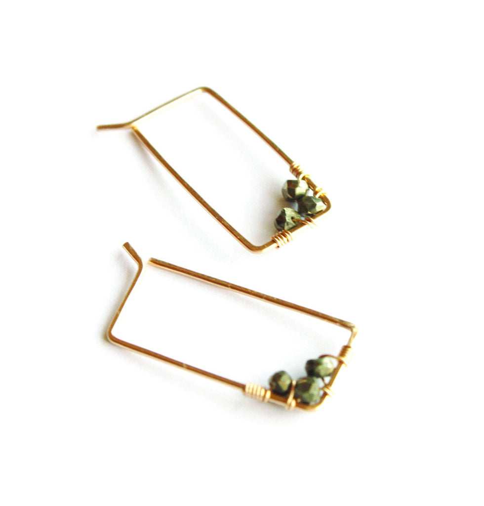 Small Adorned Rectangle Hoops