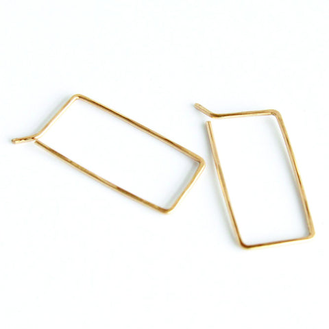 Little Rectangle hoops - Jamison Rae Jewelry