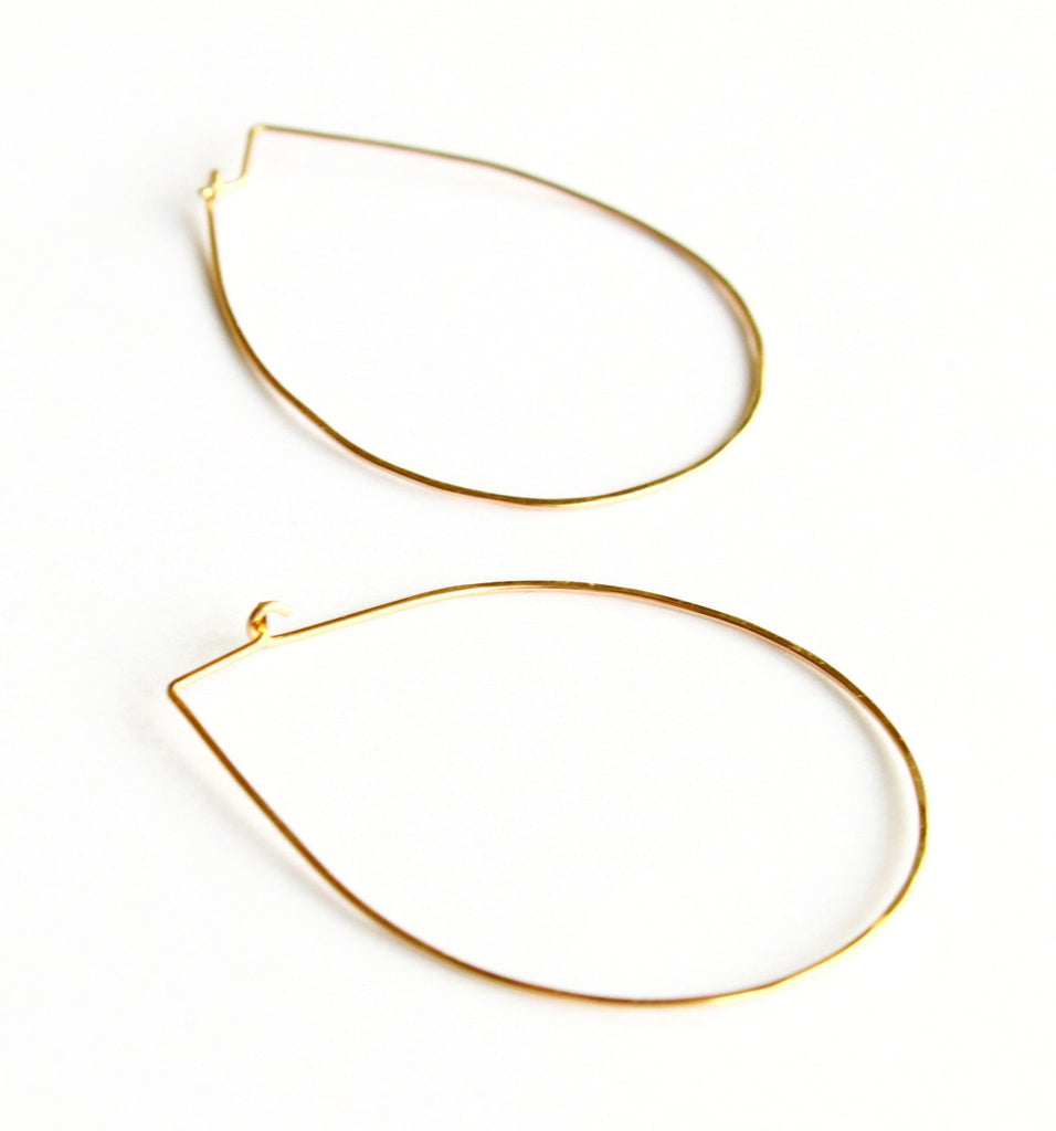 Big Ol' Tear Drop hoops
