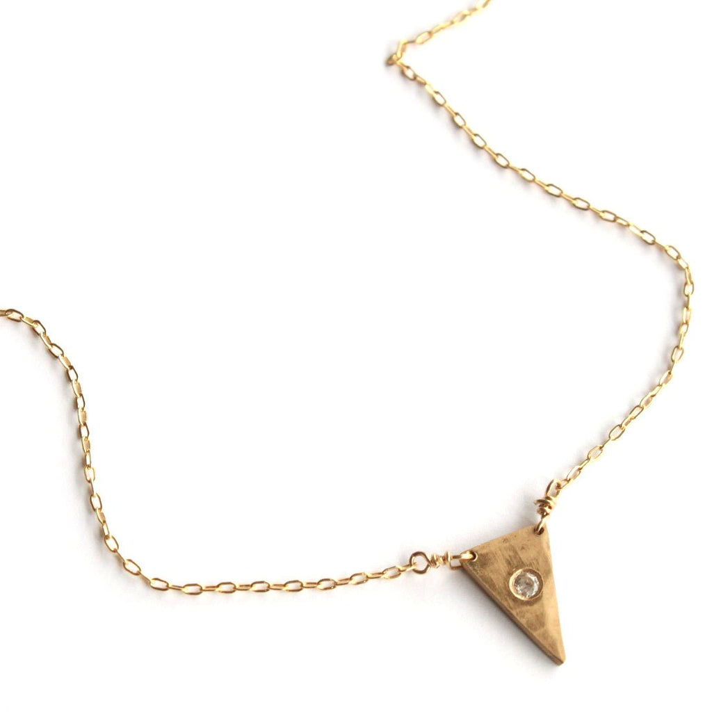 Sparkly Triangle necklace