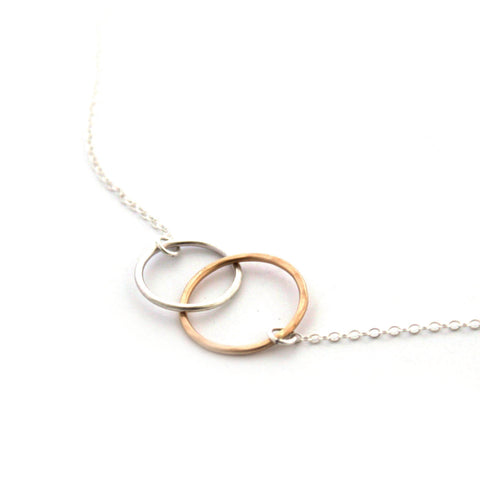 Kissing Circles necklace - Jamison Rae Jewelry