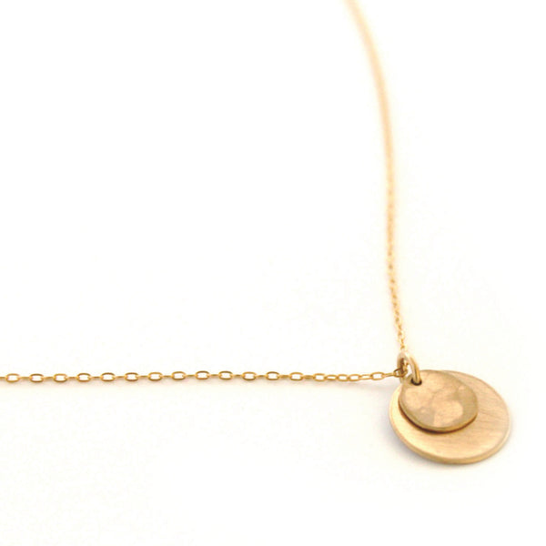 Double Disc necklace - Jamison Rae Jewelry