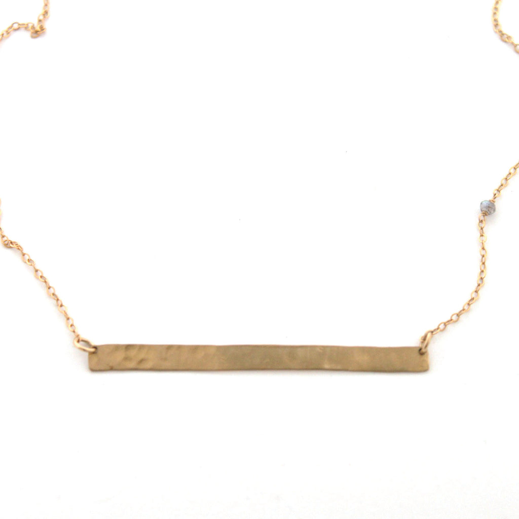 Straight and Narrow necklace - Jamison Rae Jewelry