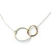 Free Form Kissing Circles necklace - Jamison Rae Jewelry