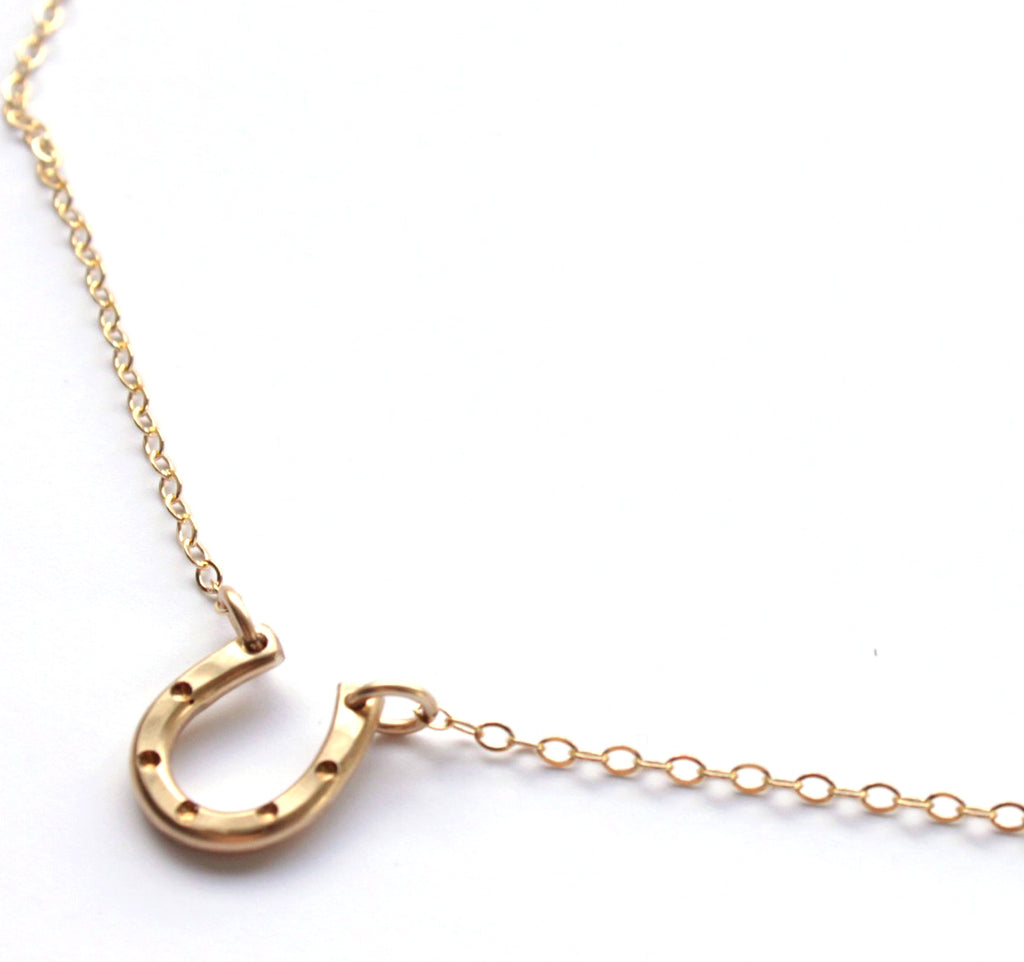 Lucky Little Horseshoe necklace - Jamison Rae Jewelry