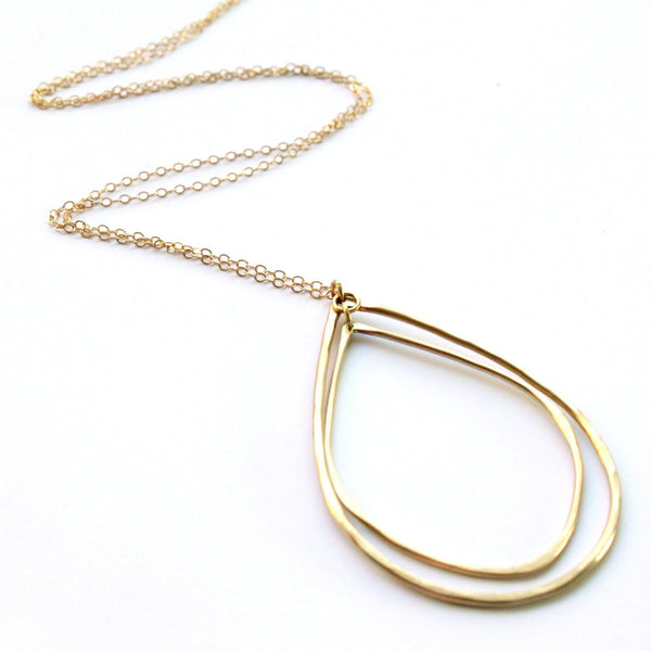 Double Teardrop necklace - Jamison Rae Jewelry
