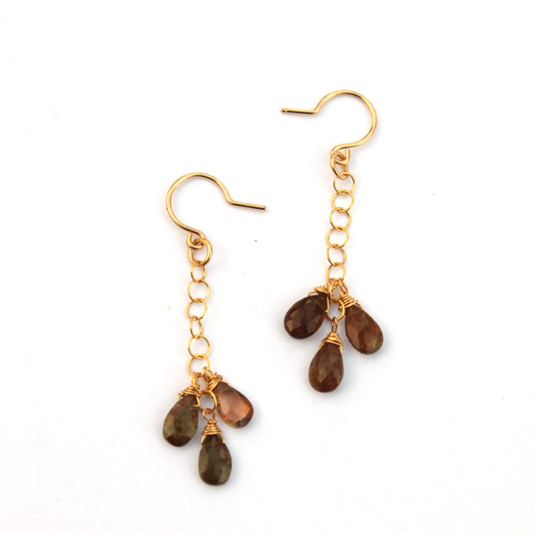 Andalusite Drop earrings - Jamison Rae Jewelry