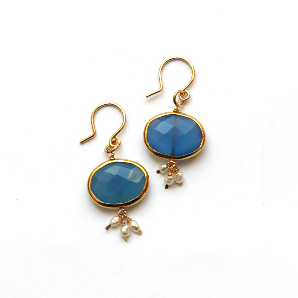 Blue Sky earrings - Jamison Rae Jewelry