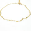 Delicate Dapped Cable Anklet