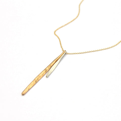Double Quill Necklace - Jamison Rae Jewelry