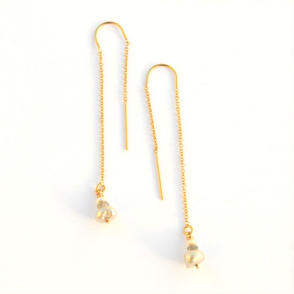 Pearly Ear Thread earrings - Jamison Rae Jewelry