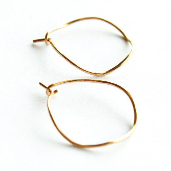 Small Wave hoop earrings