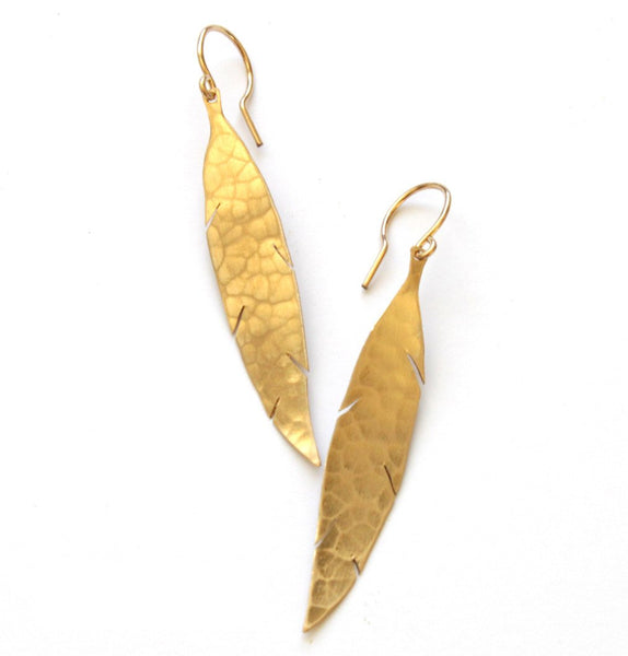 Feather earrings - Jamison Rae Jewelry
