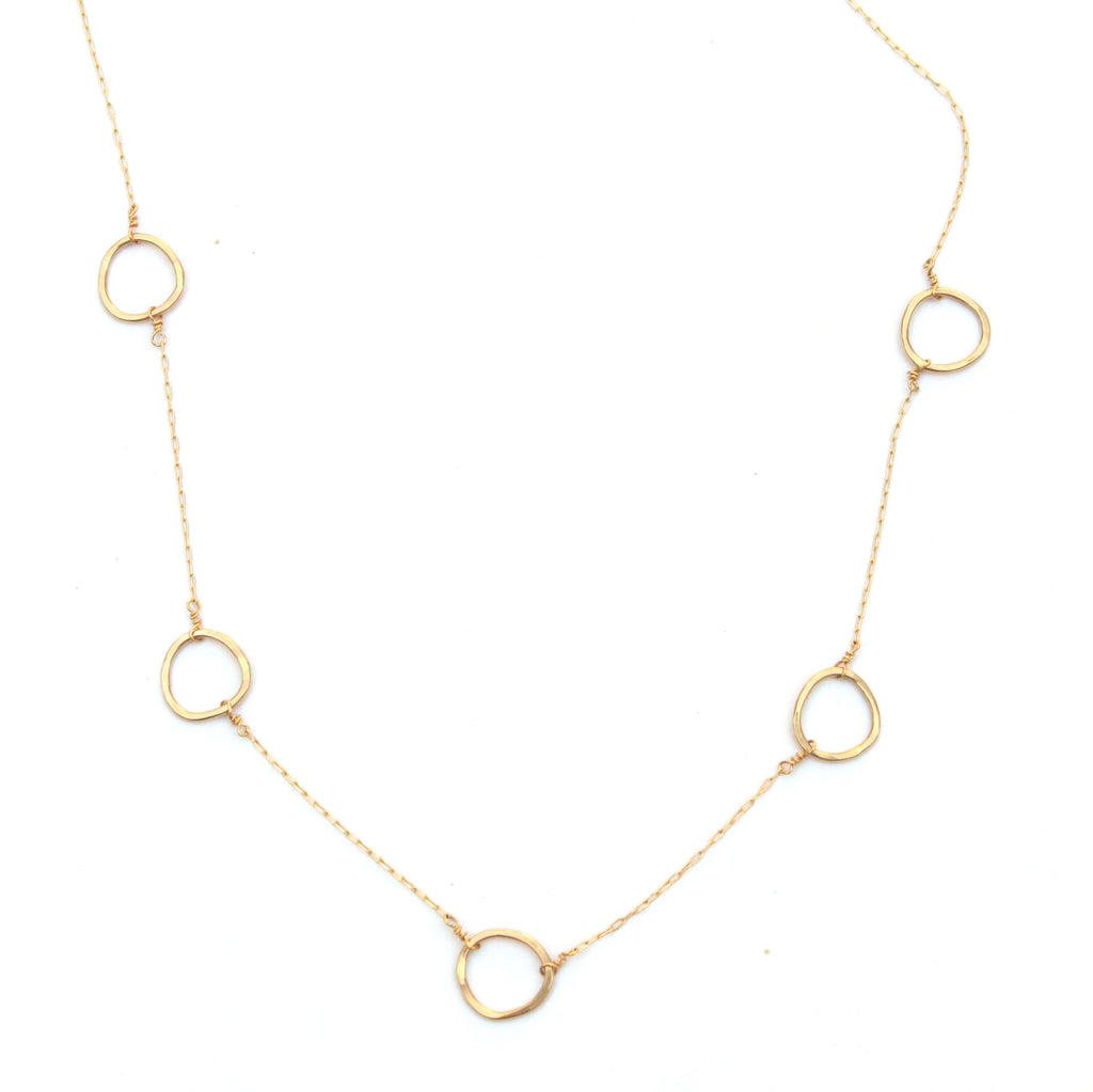 Floating Free Form necklace - Jamison Rae Jewelry