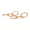 Oval Link Post Earrings