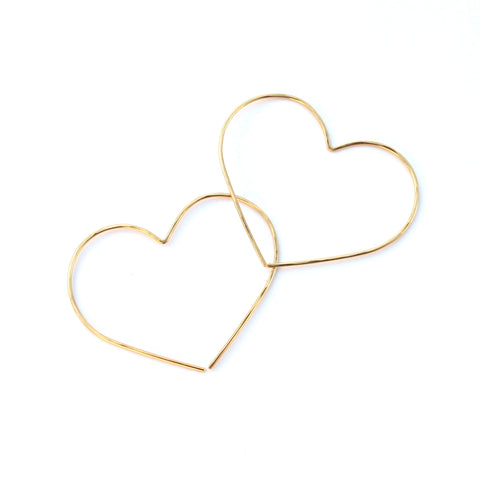 Heart threader hoops