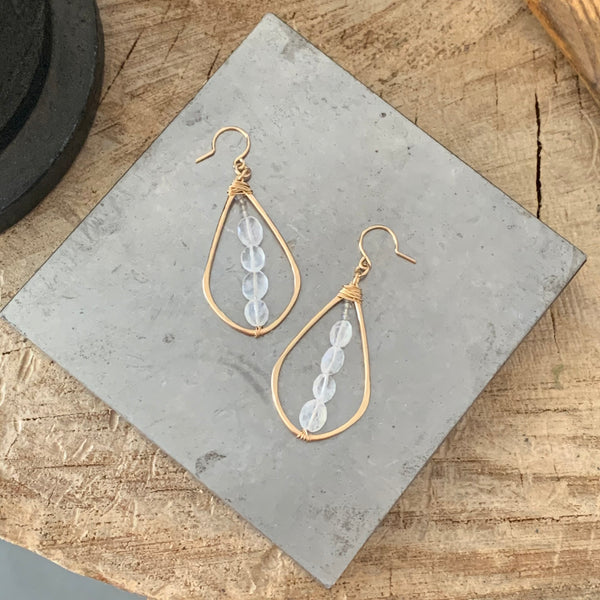 Moonstone Madness earrings