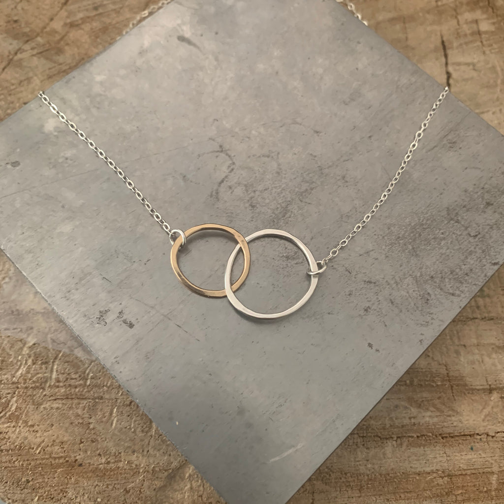 Free Form Kissing Circles necklace
