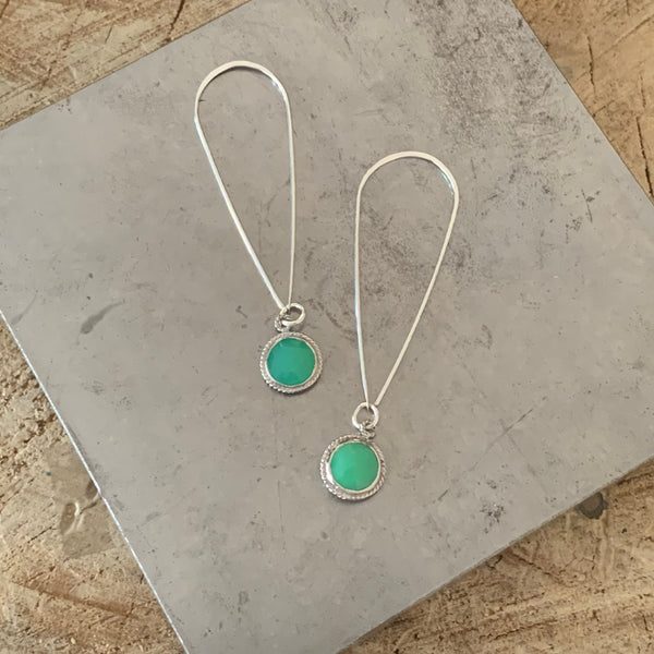 Chrysoprase Droplet earrings