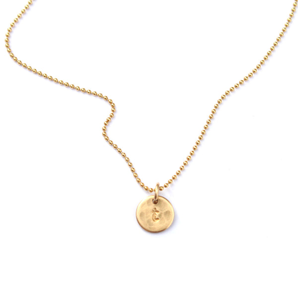 Small Initial necklace - Jamison Rae Jewelry